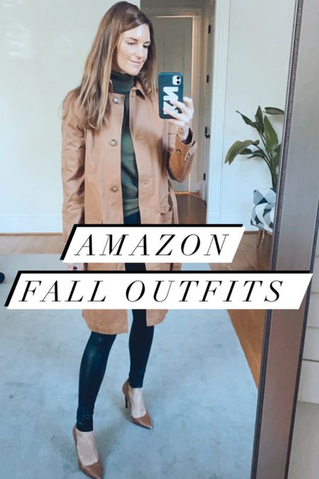 Amazon outfits, fall outfits, amazon  Fall jackets Trench coats Camel   #LTKunder100 #LTKSeasonal