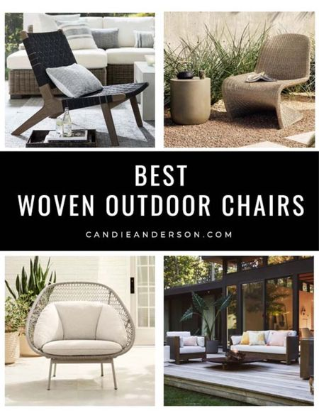 Best woven outdoor chairs. Best patio chairs.   #LTKhome #LTKSeasonal