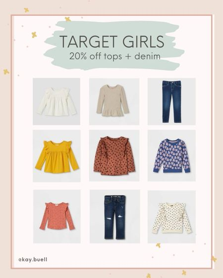 Toddler girl tops and denim on sale at Target!   #LTKkids #LTKfamily #LTKSeasonal