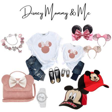 Disney mommy and me outfits and accessories | Disneyland, t shirts, Mickey, Minnie, disney purse, accessories, watch, bracelet, hat, ears | #LTKbaby #LTKfamily #LTKunder50 http://liketk.it/3hVC5 #liketkit @liketoknow.it