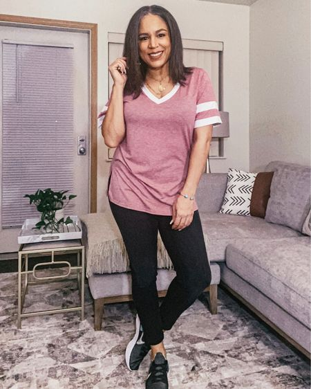 Cute, sporty vneck tee. Comes in a bunch of colors. Amazon fashion $18 http://liketk.it/3eze5 #liketkit @liketoknow.it