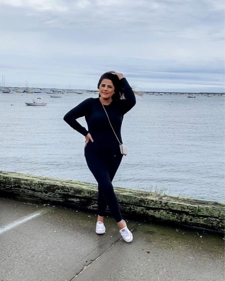 """When you spend your summer vacation in your """"just in case"""" leggings and long sleeve.    http://liketk.it/3jHuR #liketkit @liketoknow.it #LTKtravel #LTKunder100 #LTKcurves"""