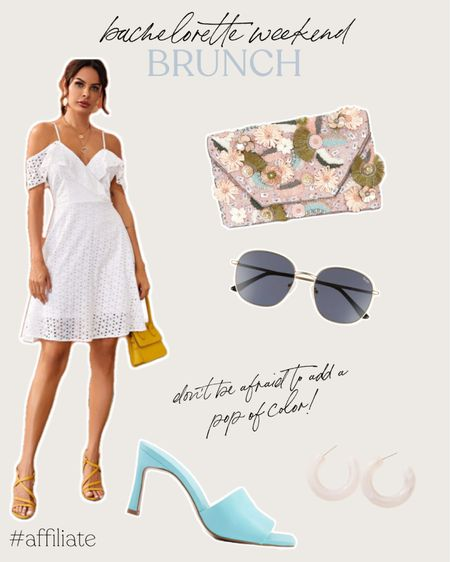 Bachelorette party brunch calls for a pop of color in bags and sandals and the perfect white dress. http://liketk.it/3ih1b #liketkit @liketoknow.it