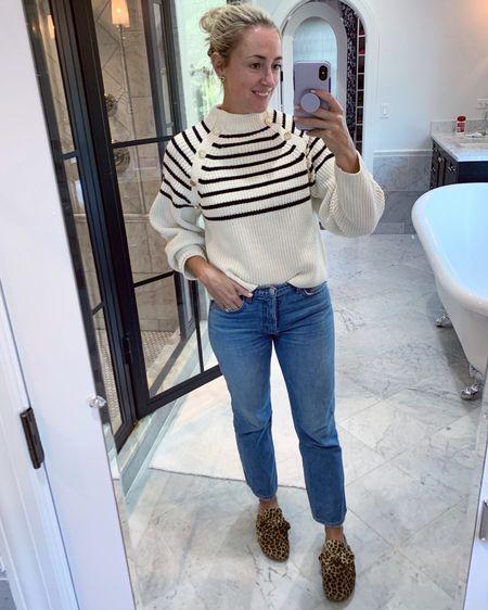 Mom #jeans go great with #leopard 🐆 #sweaters #amazonfind #amazonfashion #stripesweater #bestjeans #LTKunder50 #LTKunder100 #LTKshoecrush http://liketk.it/2WLpN #liketkit @liketoknow.it