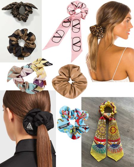 Designers are elevating the scrunchie game 🎀 http://liketk.it/3dZpt #liketkit @liketoknow.it #LTKbeauty #LTKstyletip Download the LIKEtoKNOW.it shopping app to shop this pic via screenshot. Hair, accessories, beauty, trends, scrunchies, Hermès, Missoni, Valentino, leopard