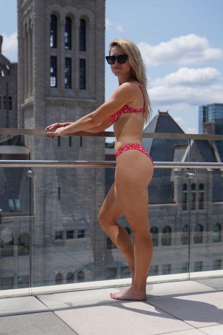My go to pool look! Two piece bikini is amazon and by far my favorite amazon sunnies 😘  #LTKswim #LTKSeasonal #LTKunder50