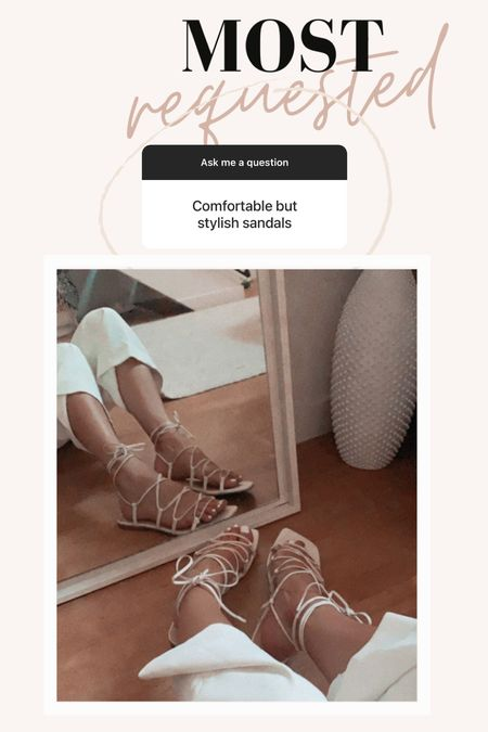 Summer sandals  Flat sandals  Tie up sandals   Size TTS 8 (can even size half down)   Vacation outfit  Summer outfit   Follow me on my LTK FOR LOTS OF SHOE INSPO     #LTKshoecrush #LTKtravel #LTKstyletip