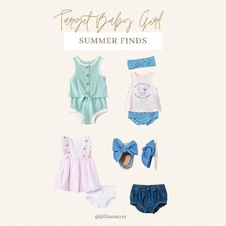 Target Baby Girl Summer Fashion 🌸 // Baby. Target. Summer Style. Baby Fashion.   #LTKkids #LTKSeasonal #LTKbaby