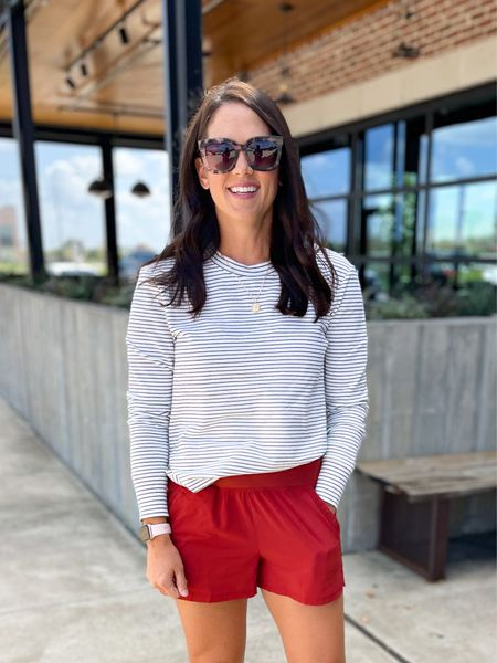Comfortable athleisure look. Amazon finds, pullover works great with denim, shorts or leggings. Long enough to. Over the back size.  Wearing a small in both pieces - true to size   #LTKunder50 #LTKfit #LTKstyletip