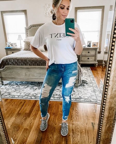 Mom jeans under $15 and SOFT! Must-have shoes as well - I could live in them.🙌🏼 http://liketk.it/36VV8 #liketkit @liketoknow.it