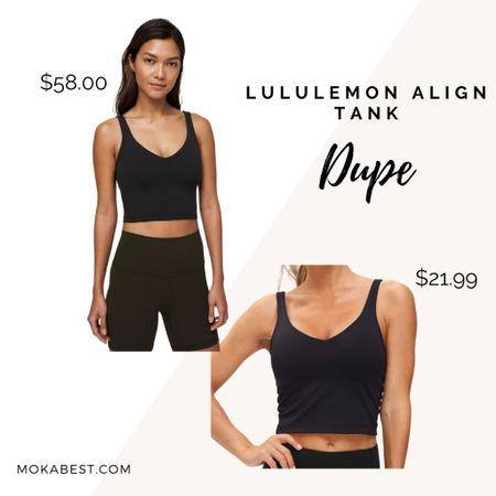 Lululemon Dupes | Align Tank | yoga top   Shop my daily looks by following me on the LIKEtoKNOW.it shopping app.   #LTKfit #LTKunder50 #LTKsalealert