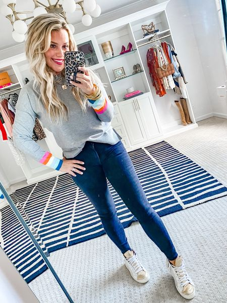 Sweater is 15% off with LAUREN15. Wearing a size small.