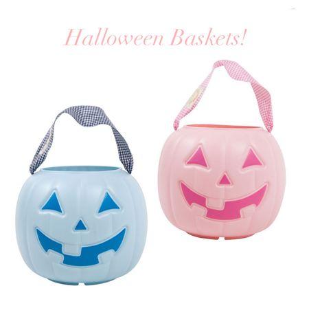Halloween Baskets, trick or treat bags, pumpkin bag, Halloween costumes #halloween #halloweenbaskets #pinkhalloween   #LTKfamily #LTKkids
