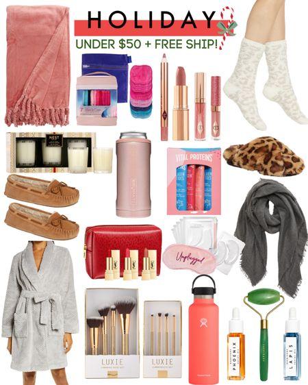 Under $50 gifts + FREE ship!! Holiday. Teacher gifts. Gifts for her. Beauty. Slippers. Robe. Stocking stuffers. http://liketk.it/2Zz4c @liketoknow.it #liketkit #LTKunder50 #LTKstyletip #LTKfamily