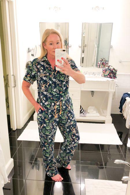 Lightweight summer PJ set with pants or shorts. Small top, medium bottoms.   http://liketk.it/3fneT #liketkit @liketoknow.it #LTKunder50 #LTKtravel