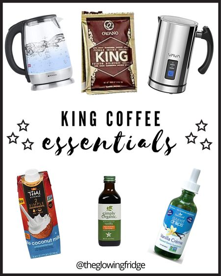 All my essentials for my healing cup of KING!! #kingcoffee #reishispores #ganoderma