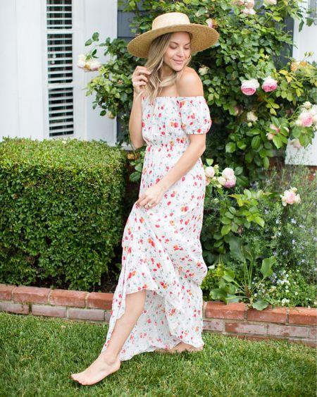 The perfect off the shoulder maxi dress http://liketk.it/2D95Q @liketoknow.it #liketkit #offshoulderdress #offshoulderdress #maxidress