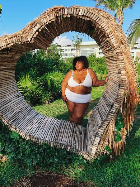 Perfect plus size white bikini   #LTKcurves #LTKunder50 #LTKsalealert