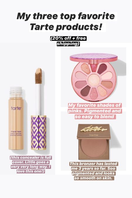 My favorite Tarte beauty products that I swear by. These have lasted me such a long time. Love them! http://liketk.it/2SGcm #liketkit @liketoknow.it #LTKDay #LTKbeauty