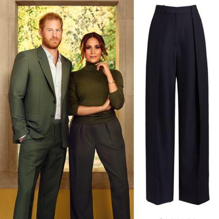 Meghan wearing Victoria Beckham wool pants #work #trousers #office #business   #LTKworkwear #LTKstyletip
