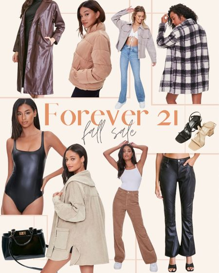 So many good fall finds included in the Forever 21 sale: lots of leather & cozy shackets  #LTKsalealert #LTKstyletip #LTKSeasonal