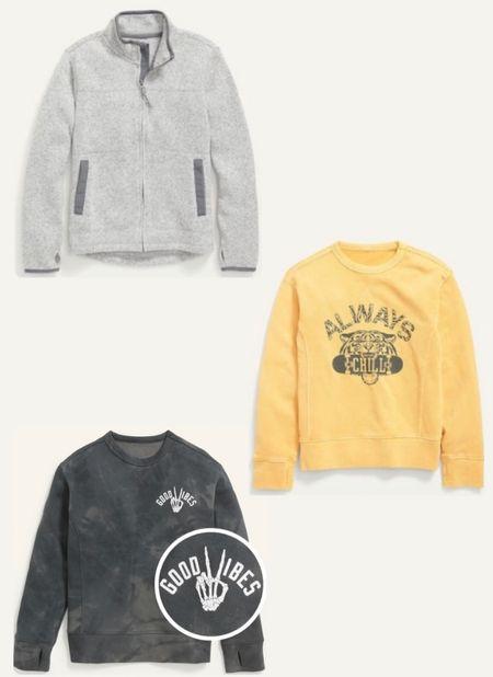 Old Navy Sweatshirt Sale 50% off. Boys fall fashion. Loungewear.  #LTKkids #LTKsalealert #LTKunder50