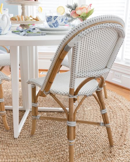 These dining chairs in our kitchen eat in are favorites! So stylish and comfortable too! Mine are the fog color. Right now they're 20% off with code DIVEIN  #LTKhome #LTKsalealert