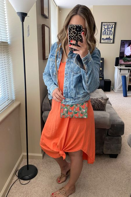 Summer dresses. Summer outfit. Casual dress. Weekend look. Sandals. Denim jacket. Midi dress. Gucci bag.  http://liketk.it/3hLpE #liketkit @liketoknow.it #LTKsalealert #LTKstyletip #LTKunder100