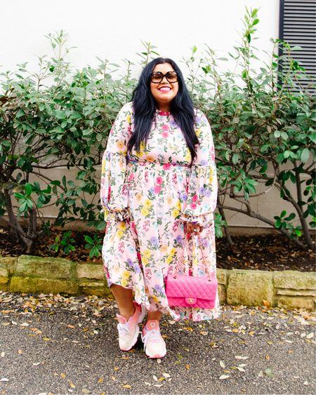 Easter florals for the win! Shop this plus size floral dress at Eloquii!   #LTKSpringSale #LTKSeasonal #LTKcurves