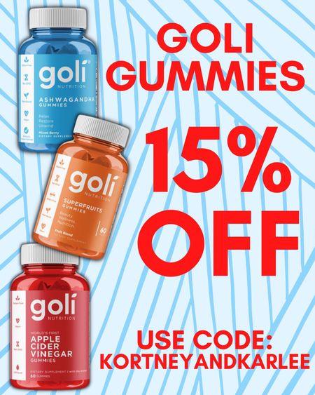 Use code KORTNEYANDKARLEE for 15% off Goli Gummies!!  Goli gummies | ACV gummies | apple cider vinegar gummies | Goli sale | Goli ACV gummies | Goli super fruits gummies | Goli Ashwagandha gummies | Goli Gummies sale | Kortney and Karlee | #kortneyandkarlee @liketoknow.it #liketkit   #LTKunder50 #LTKunder100 #LTKsalealert #LTKstyletip #LTKSeasonal #LTKfit