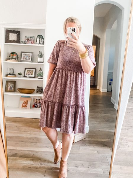 this dress is new from Target and it's one of the softest things I've ever owned! Super cute, super comfy... pair it with booties, tall boots, sandals, or mules. Tons of options for this guy!  #LTKstyletip #LTKunder50 #LTKworkwear