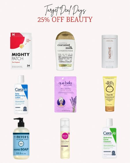 There are a lot of sales happening right now! Target is having their Deal Days with 25% off beauty and personal care items. Now is the time to stock up on your everyday essentials.   Double tap this post to save it for later.   Follow me for more ideas and sales.   #LTKbeauty #LTKunder50 #LTKsalealert
