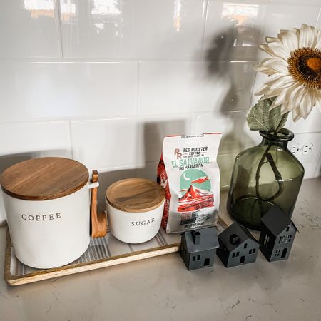 Coffee corner with Christmas target dollar spot finds and Hearth & Home.   #LTKFall #StayHomeWithLTK #LTKunder50