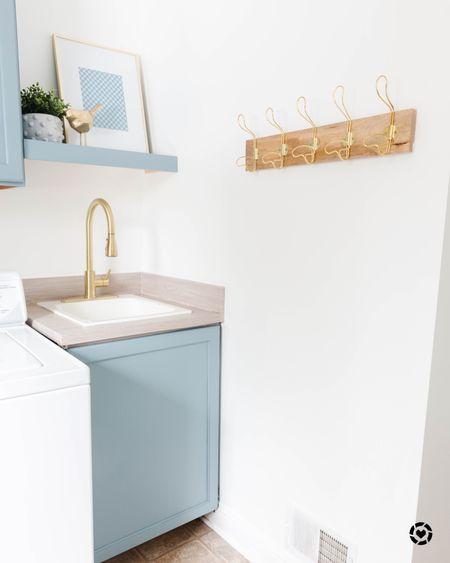 Coastal blue laundry room inspiration!     #LTKunder100 #LTKhome #LTKsalealert
