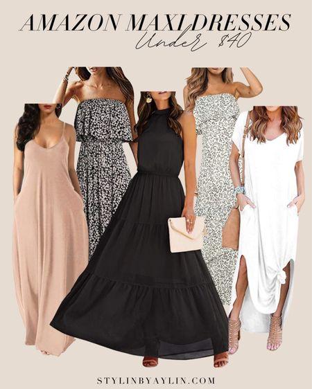 Amazon maxi dresses, maxi dresses, amazon finds, summer dresses, affordable style, StylinByAylin   #LTKSeasonal #LTKunder50