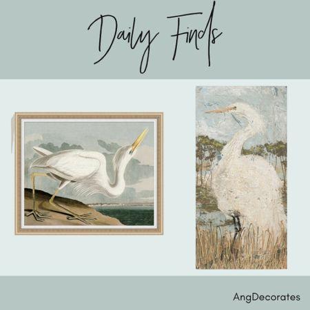 Daily Finds: Heron art   Heron art heron paintings beachy paintings beach decor  #LTKhome