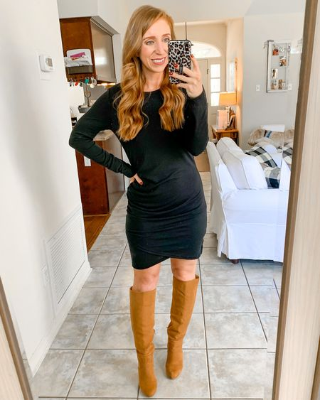 This dress is currently just $10.99! Comes in a ton of colors and is so flattering for Fall!               Amazon fashion Amazon finds  Amazon dress Fall fashion  Fall outfits  Boots    #LTKstyletip #LTKunder50 #LTKsalealert