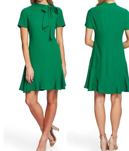 Bow neck short sleeve dress    . @liketoknow.it #discoverunder5k #stevemadden #strawhat #whitedress #ltkseasonal #competition #nordstrom #pinklilystyle #Destin #vacationspot #gucci #Louisvuitton #homedecor #bedroom #patiofurniture #casualstyle   #LTKstyletip #LTKwedding #LTKworkwear