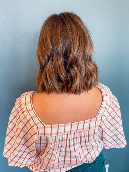 I can't get enough of this simple top & the shape of the back is icing on the cake—it shows off my new hair style perfectly! 👩🏻✨💗  So what do you think? I've been wanting to go back to my natural color for a year now, and it just felt right today.  #LTKunder100 #LTKunder50 #LTKGiftGuide