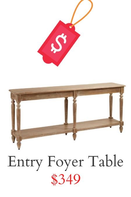 Light brown entry foyer table on sale!!   #LTKsalealert #LTKhome