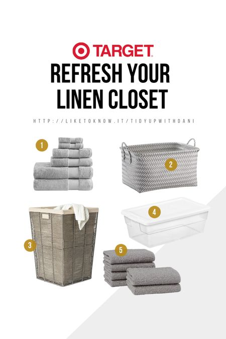 Linen closet organization. Small linen closet organization ideas. Target linen closet finds. Refresh your linen closet. #target #targetfinds #linenclosetorganization #organization #linencloset   #LTKhome #LTKSeasonal #LTKunder50