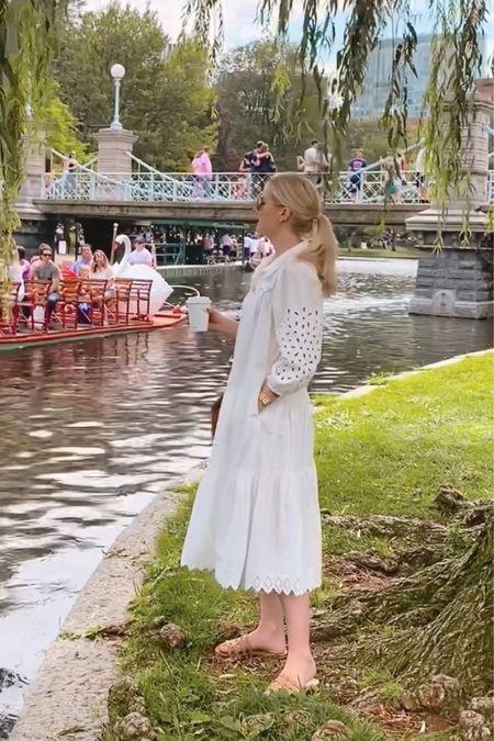 White midi dress, raffia sandals, leather tote, aviator sunglasses http://liketk.it/3jthL #liketkit @liketoknow.it
