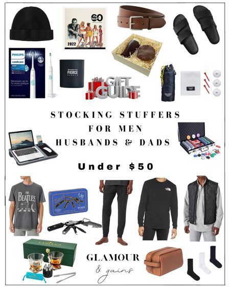 Stocking stuffers for Dads, husbands & men. Men's stocking stuffers are hard but these holiday gifts are thoughtful & perfect for foodies, techies & the modern man who loves fashion & grooming & not a sock in sight!  #LTKGiftGuide #LTKHoliday #LTKunder50