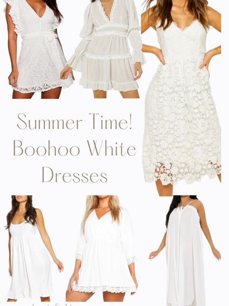 Summer white dresses are here! These are great looks for a outdoor wedding to a nice backyard party. You can instantly shop my looks by following me on the LIKEtoKNOW.it shopping app #LTKstyletip #LTKunder100 @liketoknow.it.family http://liketk.it/3gwjH #liketkit @liketoknow.it #boohoo #whitedress #summerdress #dress
