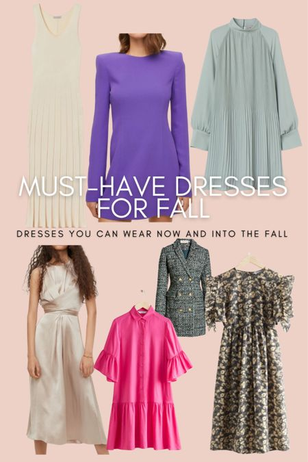Here are a few must have pre-fall dresses. You can wear these dresses now and into the fall.  #LTKworkwear #LTKstyletip #LTKunder100
