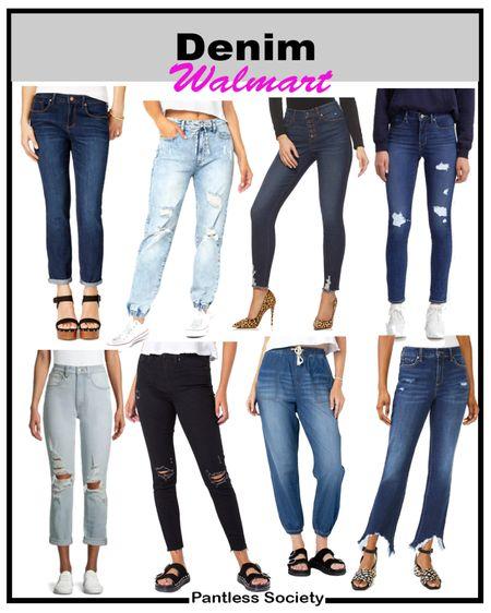 Walmart finds. Walmart style. Back-to-school outfit. Teacher outfit. Fall fashion. Fall style. Fall outfit. Denim deals. Fall denim. Denim jeans. Under $50. Labor Day sale.   #LTKunder50 #LTKbacktoschool #LTKsalealert