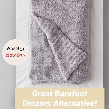 This throw blanket from Urban Outfitters feels just like the Barefoot Dreams blanket. Great deal!   #LTKsalealert #LTKhome #LTKunder50