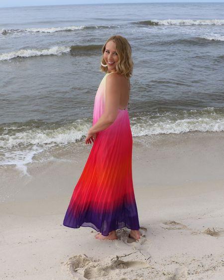 Beach dress Backless dress Colorful dress Cruise dress Found it on Amazon Amazon deal Vacation outfit True to size  http://liketk.it/3jiwh #liketkit @liketoknow.it #LTKstyletip #LTKunder50 #LTKunder100