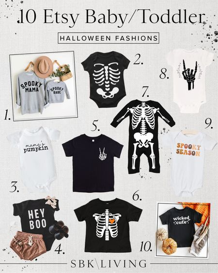 H A L L O W E E N \ Here are my top 10 baby/toddler fashion finds a la Etsy!!💀🖤🤍 SO cute! Just ordered the boys a bunch of these👻  #halloween #halloweencostume #halloweentee #fall   #LTKbaby #LTKSeasonal #LTKkids