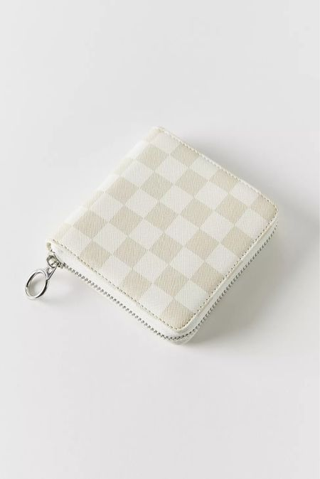✨🚨New Arrival: UO Checkered Zip Wallet- Only $19🚨✨ | Under $50 | Under $100 | Designer Dupe | Look for Less | Louis Vuitton Dupe | Checkered Wallet | Fall Fashion | Back to School | Business Casual | Workwear |   #LTKitbag #LTKstyletip #LTKunder50